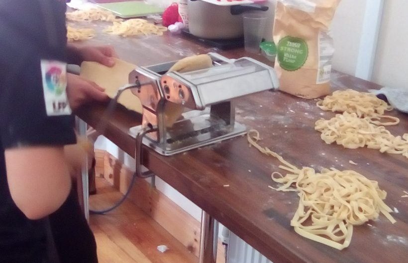 Making pasta from scratch