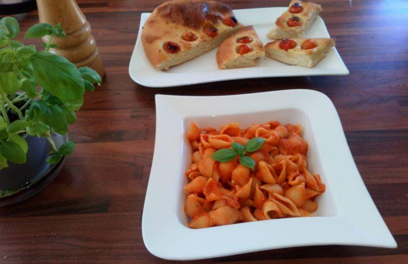 Pasta and Foccacia